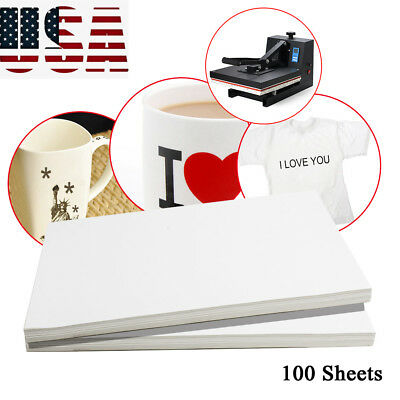 100pcs A4 Dye Sublimation Heat Transfer Paper For Mug Plate Polyester -usa