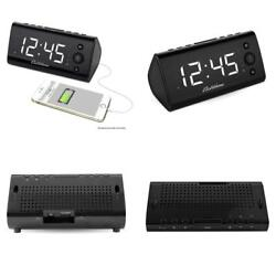 Electrohome Alarm Clock Radio with USB Charging for Smartphones & Tablets...