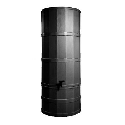 Polytank Black 200L Litres TOWER WATER BUTT KIT with Stand, Diverter & Tap