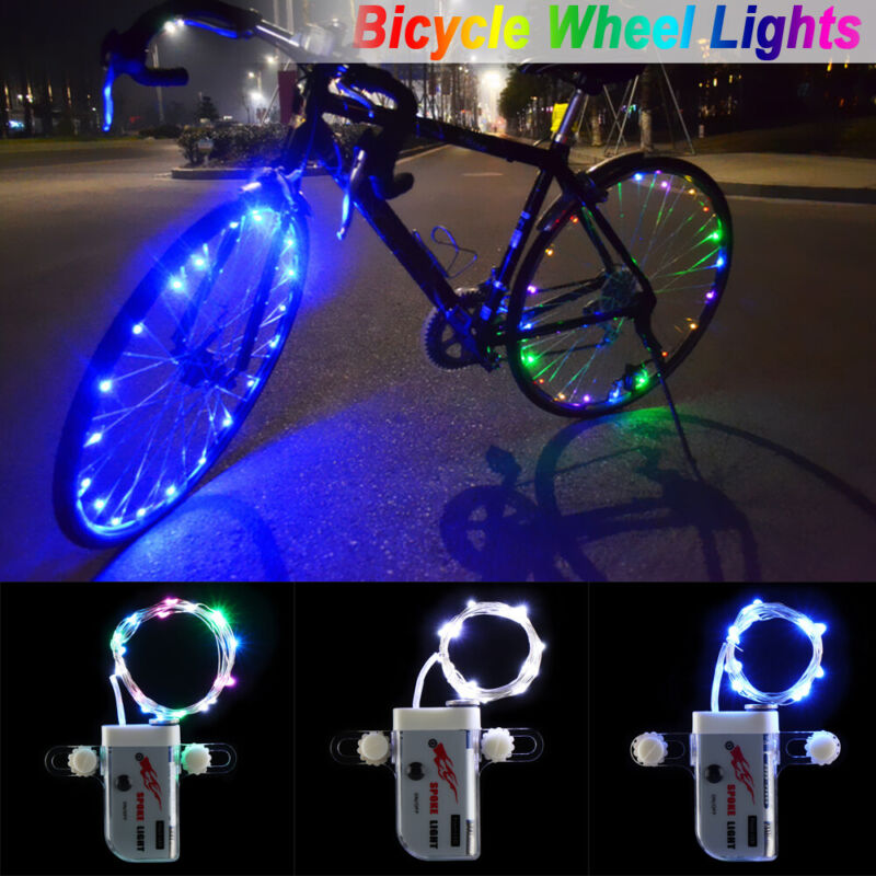 LED Bicycle Bike Cycling Rim Lights Manual Open & Close Whee