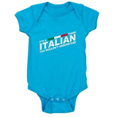 CafePress Italian Thing Cute Infant Bodysuit Baby Romper (1305826750)