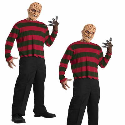 Freddy Krueger Erwachsene Hemd & Maske Lizenziert Halloween - Freddy Krueger Kostüme