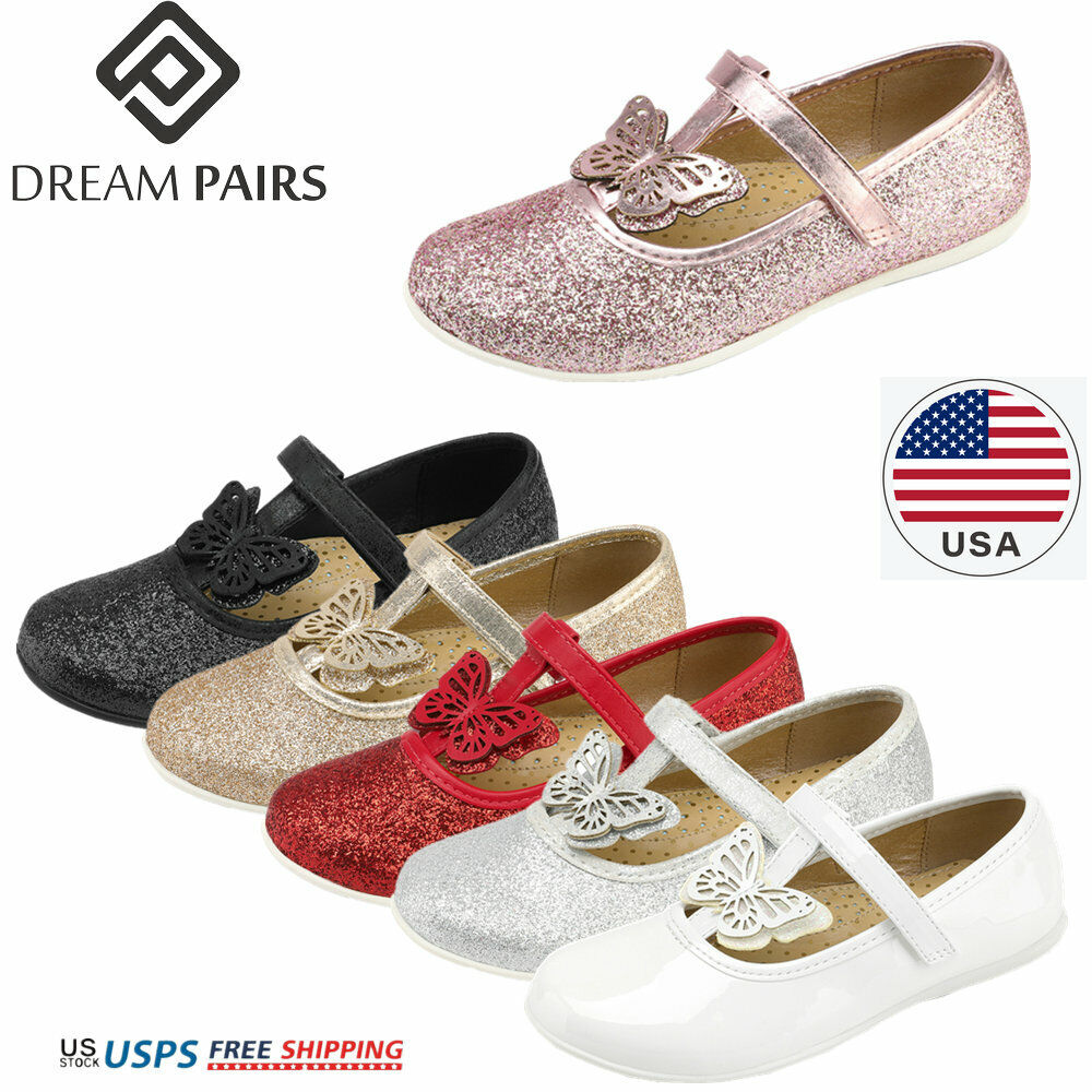 DREAM PAIRS Girls Dress Shoes Kids Princess Flat Shoe School