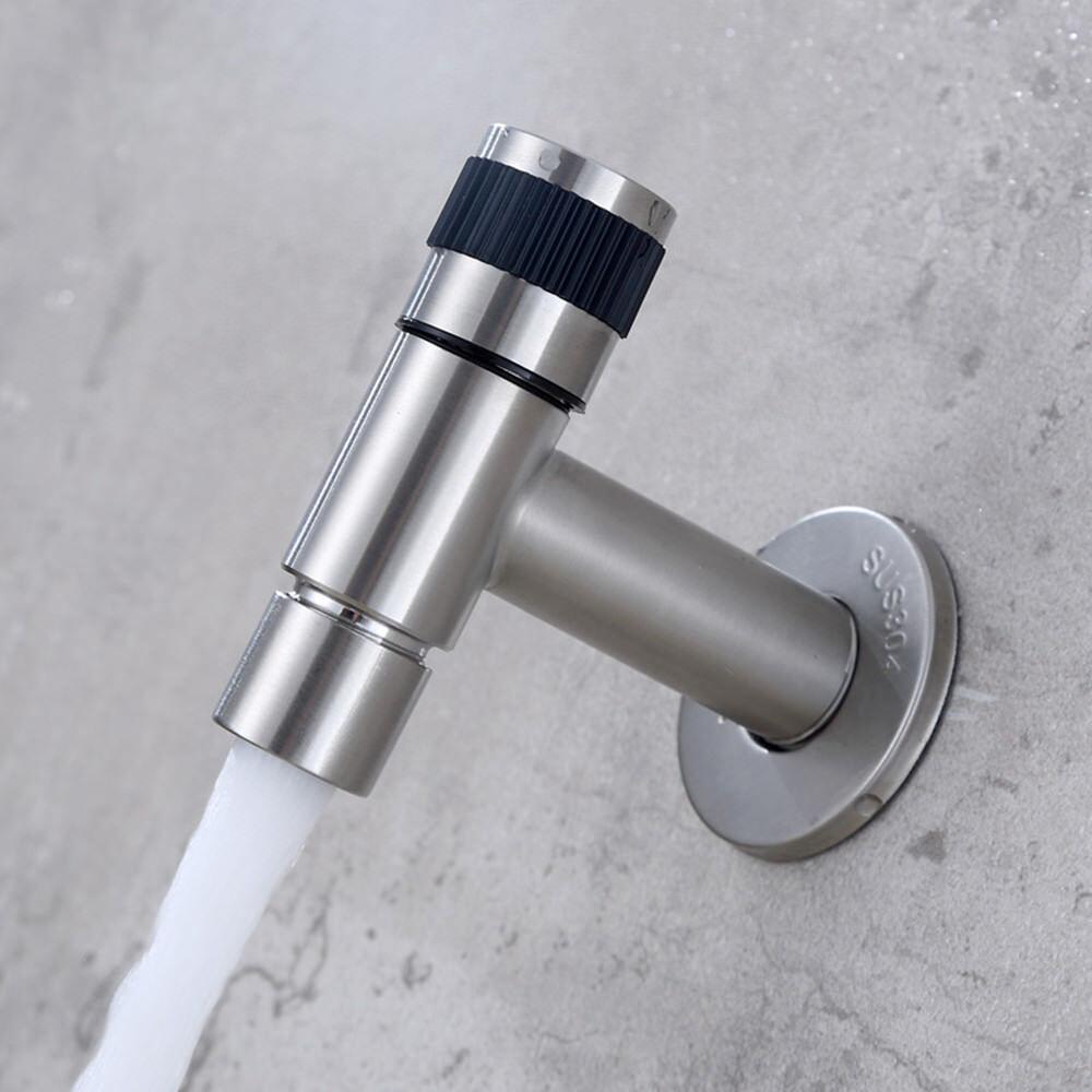 Wasserhahn Wandmontage für Kaltwasser Einhand Kaltwasserhahn Wandhahn Gäste WC
