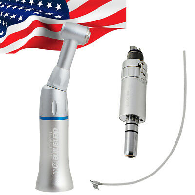 Denshine Dental Low Speed Handpiece Contra Angle 4hole 11 Drive Air Motor Kit
