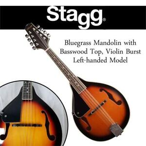 Used Stagg M20-LH Bluegrass Mandolin with Basswood Top, Violin Burst, Left-handed Model Condtion: Used, Left Handed