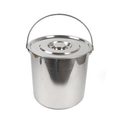 Eiskübel Edelstahl Milch Wein Champagner Eimer Getränkekühler mit / Deckel 20L