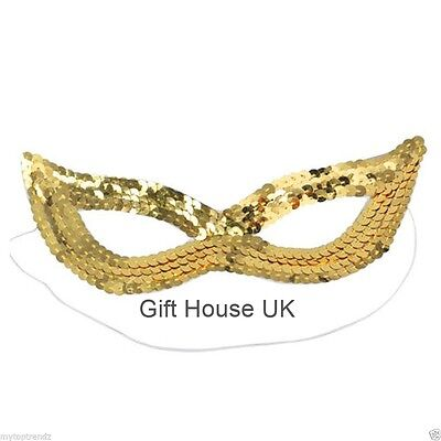 Gold Sequin Eye Mask Masquerade Cat Women Girls Kids Mask For Party Fancy Dress ](Catwoman Mask For Kids)