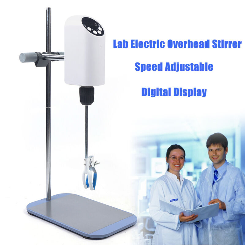 USA 20L Lab Top-mounted electric agitator Overhead Stirrer Mixer Digital Display