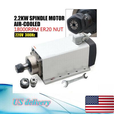 2.2kw Electric Square Spindle Motor Er20 220v Air Cooled Cnc Engraving Milling