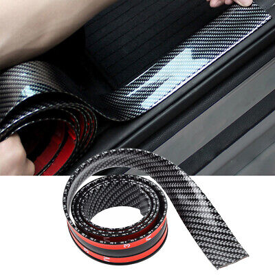 5CM*1M Car Carbon Fiber Rubber Edge Guard Strip Door Sill Protector Accessories
