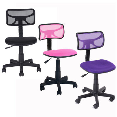 Ergonomic Mesh Computer Office Desk Mid-back Task Swivel Chair Kid Study 3 Color