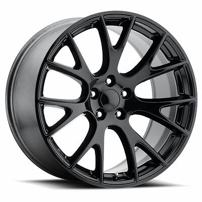 "22"" Hellcat Style Wheels Gloss Black Fits SRT 2014-17 Jeep Grand Cherokee Rims"
