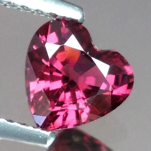 1.21cts Lovely Heart Red Natural Rhodolite Garnet Loose Genuine Gemstones