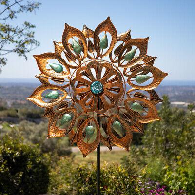Peacock Eyes Wind Spinner in Copper Dia 61cm by Primrose™
