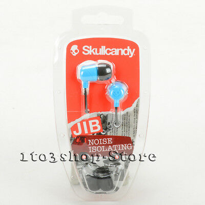 Skullcandy JIB In-Ear Earbuds Noise Isolation Stereo Headphones S2DUDZ-012 Blue