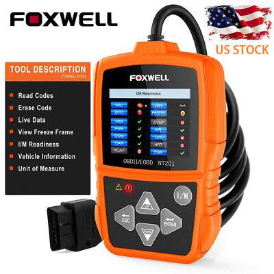 Foxwell Auto OBD2 EOBD Code Reader Car Scanner Tool Engine Light Check 1996-2017