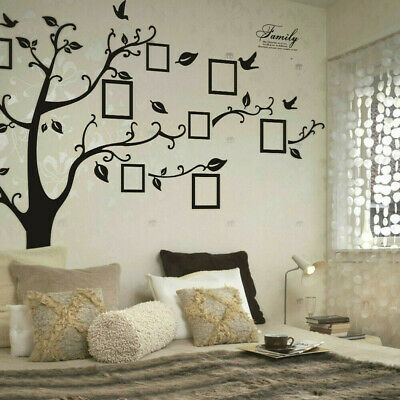 Large Family Tree Wall Sticker Photo Frame Removable Decal Black 99''x79'' (Family Tree Wall)