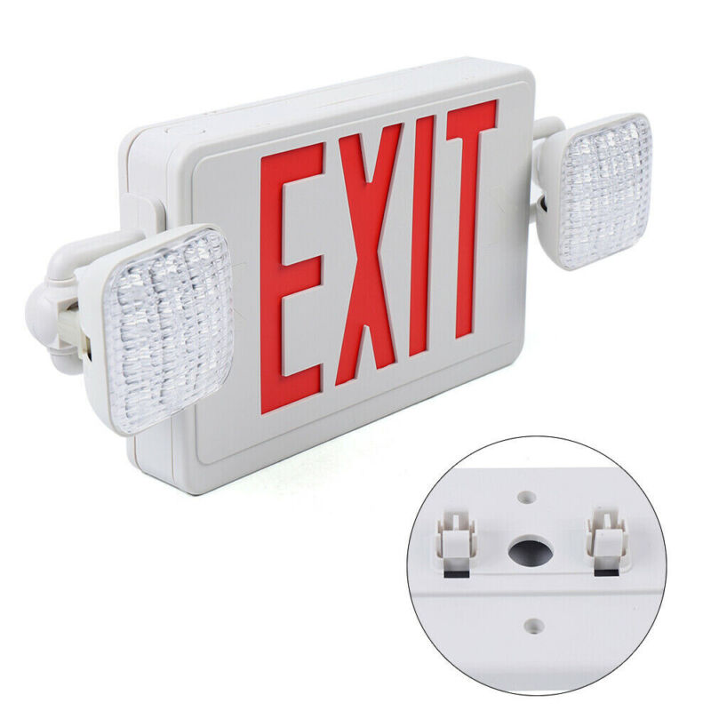UL-Listed Urgent Light-Red LED Exit Sign - Dual Lamp ABS Fire Resistance