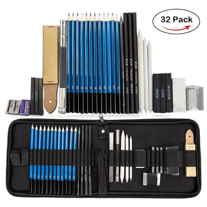 32x sketching drawing art pencil kit student