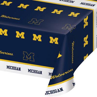 2-ct University of Michigan Wolverines Plastic Table Covers College Party ](University Of Michigan Party Supplies)