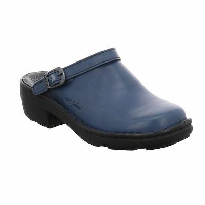Josef Seibel Betsy Abisso Blue Womens Slip On Slingback Leather Mule Sandals