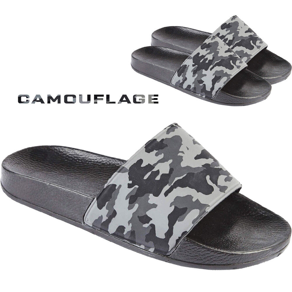 Mens Beach Pool Sliders Flip Flops Slip On Mules Shower Sandals Shoes Size 6-12