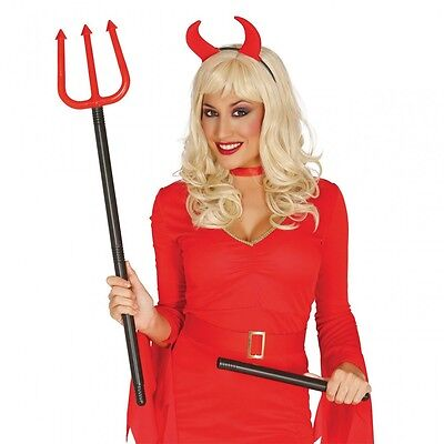 Dreizack 100cm zusammensteckbar Teufel Dämon Kostüm Zubehör Halloween Karneval