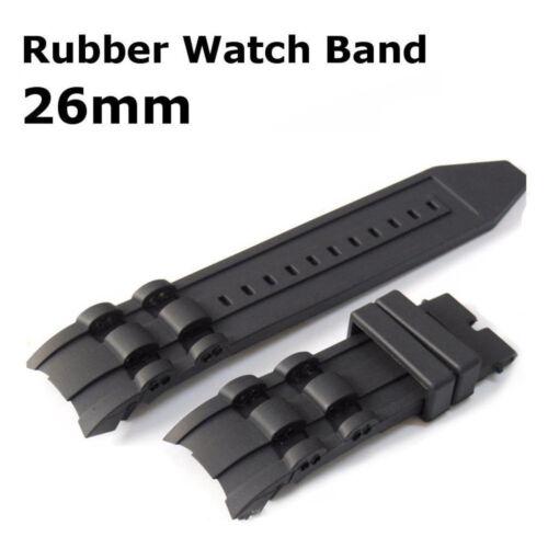 26mm Black Rubber Watch Band Strap For Invicta Pro Diver Chr