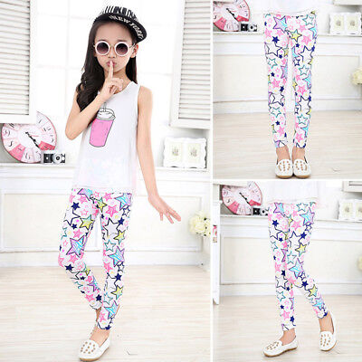 Children Pretty Flower Leggings Kids Trousers Classic Girls Pencil Pants Style A - Girls Flower Leggings