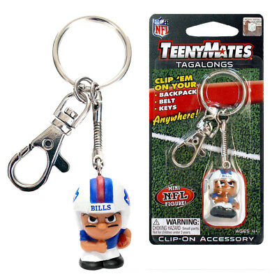 NFL Teenymates Tagalong Key Chain With Clip Buffalo Bills Buffalo Bills Key