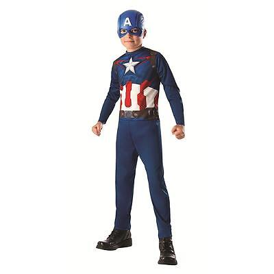 Kids Boys Captain America Halloween Costume Size Large 8-10 years jumpsuit mask - 10 Halloween Costumes
