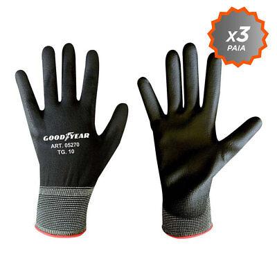 Confezione da 3 guanti da giardinaggio a filo continuo elasticizzato Goodyear co