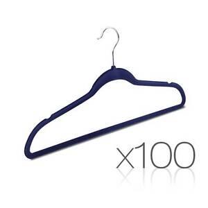 Set of 100 Slim Navy Velvet Hangers Sydney City Inner Sydney Preview