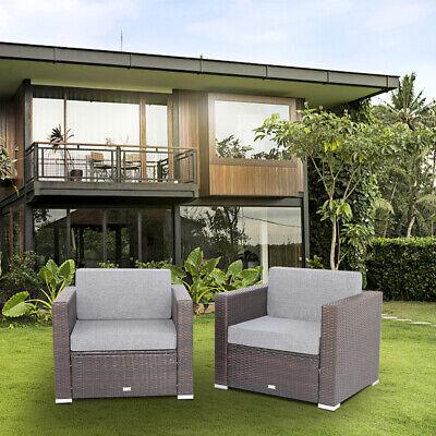 Garden Furniture - 2Pcs Patio Rattan Wicker Armchair Sofa Garden Furniture for Rattan Sofa Set