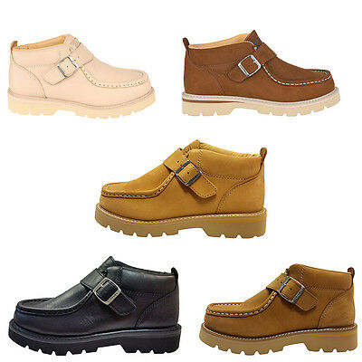 Back to School Boys Women Genuine Nubuck Leather Shoe Workmen-V For - Shoes For Back To School