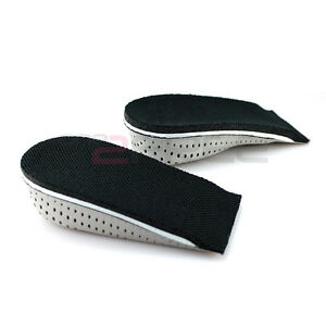 Men-039-s-Women-039-s-Memory-Foam-Height-Half-Shoes-Insole-Pad-2-3-4CM-UP-Increase-1Pair