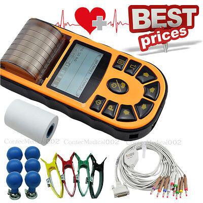 Digital Ecg Machine Usb Electrocardiograph 12 Lead 1 Channel Printersoftware