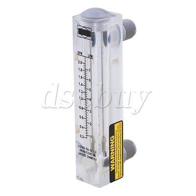 0.2-2gpm1-7lpm Panel Type Liquid Flowmeter Water Flow Measuring Meter