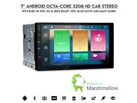 "7"" Android 6.0 HD Octa-Core 64bit 32GB 2G RAM Touchscreen WiFi 4G GPS USB SD Stereo Screen Mirrorin"
