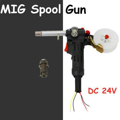 24v Dc Motor Mig Spool Gun Wire Feed Aluminum Welder Torch Weld Tool Usa New