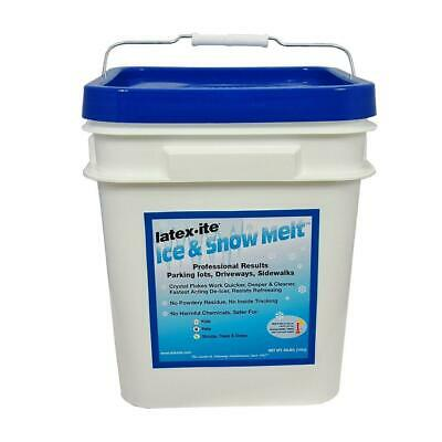 Ice Melt Driveways - 30 lb. pail ice and snow melt | flakes sidewalk driveway crystal safe lots quick
