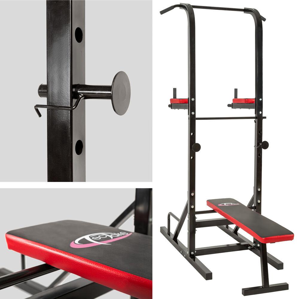 station de musculation exercices banc multifonction dips. Black Bedroom Furniture Sets. Home Design Ideas