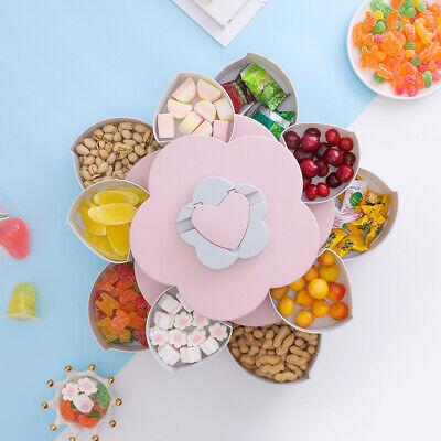 Food Storage Organizer (Bloom Rotating Snack Box Flower Design Candy Food Storage Box Jewelry Organizer)