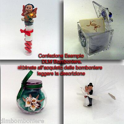 Confezione per bomboniere (2PEZZI) -abbinato all'acquisto di bomboniere DLM-