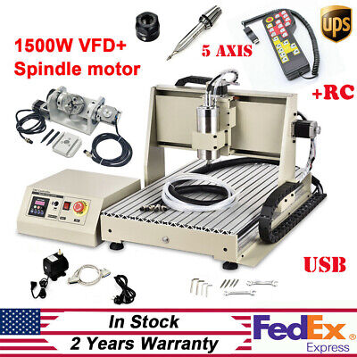 1500w Usb 5 Axis 6040 Cnc Router Engraving Machine Drill Carver 3d Kithandwheel