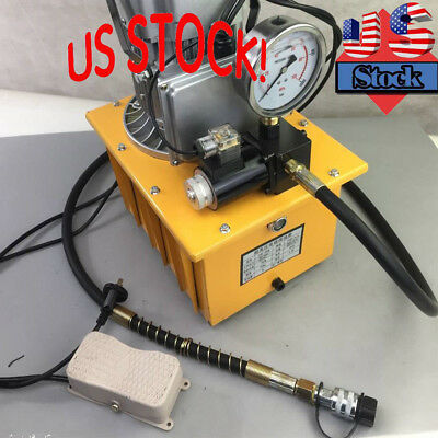 Electric Driven Hydraulic Pump Pedal Solenoid Valve Control 750w 110v 10152 Psi