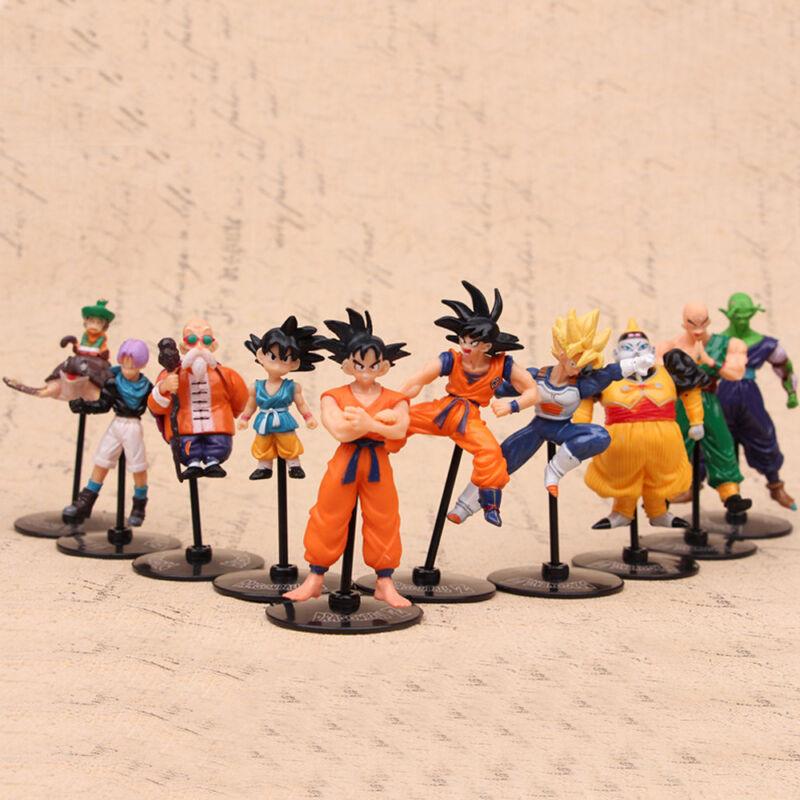 10 PCS Dragon Ball Z Goku Piccolo Anime Action Figure PVC Dolls Kids Toys Gifts