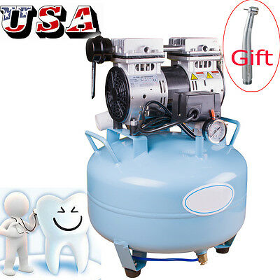 Usaportable Dental Medical Air Compressor Silent Noiseless Oil Free Oilless Ce