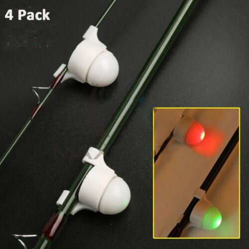 4 x LED-Bissanzeiger Strike Alert Rute Aal Nachtangeln elektronischer Bite Alarm